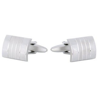 Cuff Daddy Rhodium Silver Panel Cufflinks