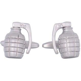 Shop Cuff Daddy Rhodium Silver Grenade Cufflinks Free