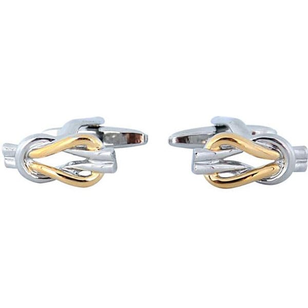 Cuff Daddy Two-tone Love Knot Cuff Links