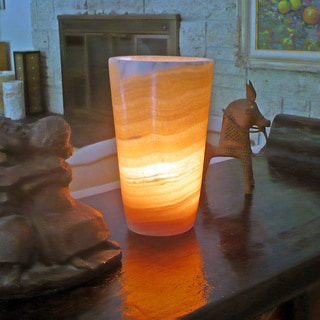 Shop Alabaster Flute Lamp Egypt Free Shipping Today
