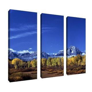 Kurt Shaffer 'Autumn Tetons' 3-panel Art Set