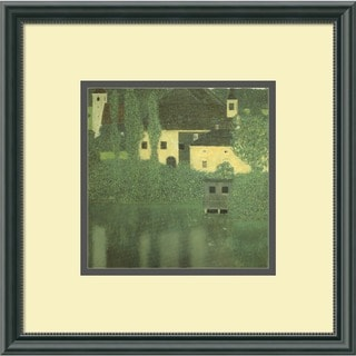 Gustav Klimt 'Schloss Unterach on the Attersee' Framed Art Print