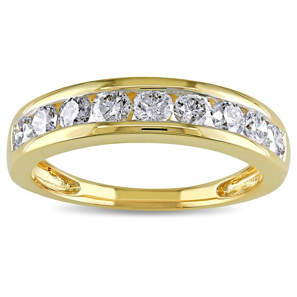 14k Yellow Gold 3/4ct TDW Channel-Set Diamond Anniversary Bandby The Miadora Signature Collection