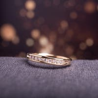 14k Yellow Gold 3/4ct TDW Channel-Set Diamond Anniversary Bandby The Miadora Signature Collection