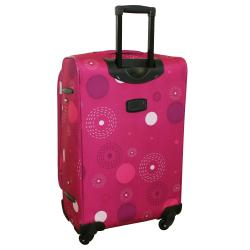American Flyer Pink Fireworks 5-piece Spinner Luggage Set