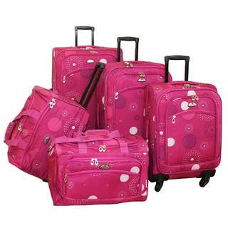 American Flyer Pink Fireworks 5-piece Spinner Luggage Set|https://ak1.ostkcdn.com/images/products/5515594/P13296108.jpg?impolicy=medium