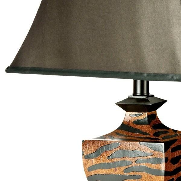 Safavieh Lighting 33-inch Safari Zebra Table Lamp (Set of 2)