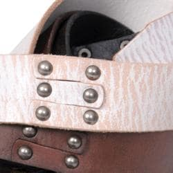 Journee Collection Women's Studded Casual Leather Belt