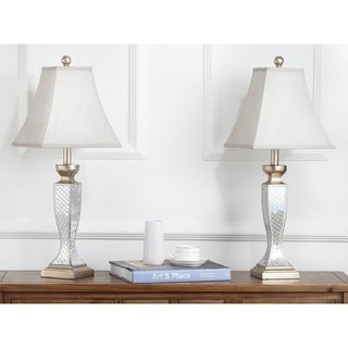 Safavieh Lighting 28-inch Mirror Mosaic Table Lamps (Set of 2)