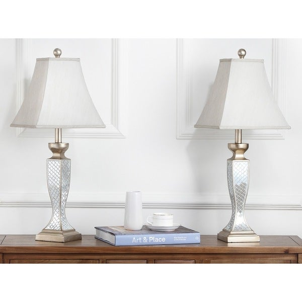 Shop Safavieh Lighting 28-inch Mirror Mosaic Table Lamp (Set of 2 ...