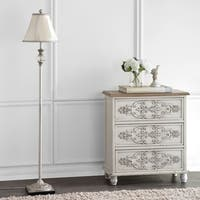 Safavieh Lighting 61-inch Antiqued Floral Wood Floor Lamp