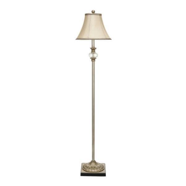Safavieh Lighting 61-inch Antiqued Floral Wood Floor Lamp