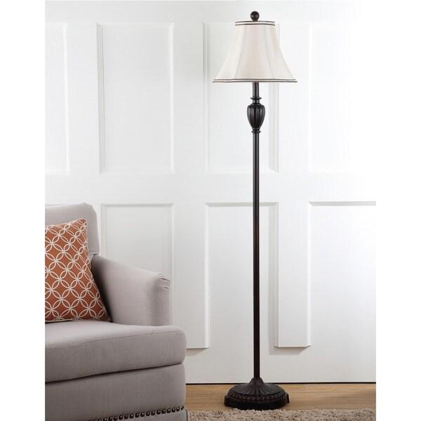 Safavieh Lighting 61-inch Antiqued Steel Classical Floor Lamp