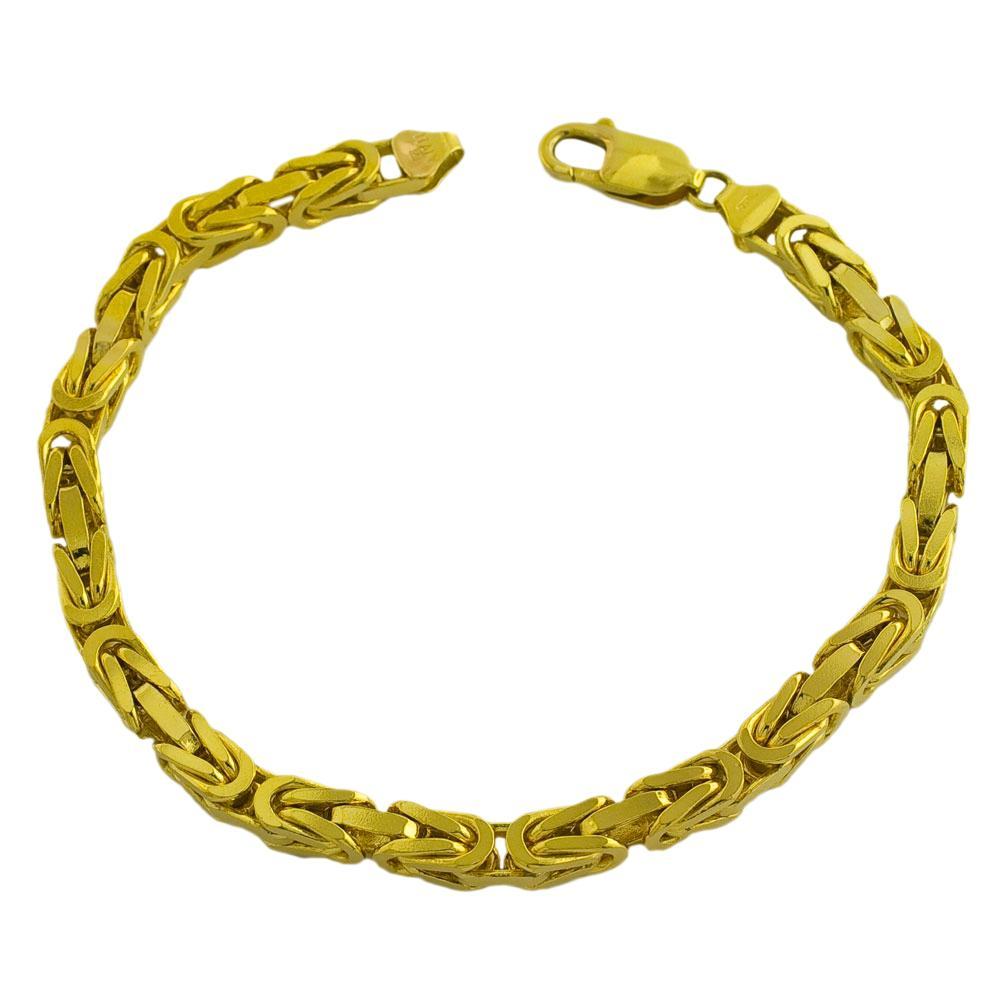 Fremada 14k Yellow Gold Men's Solid 8.75-inch Byzantine Bracelet
