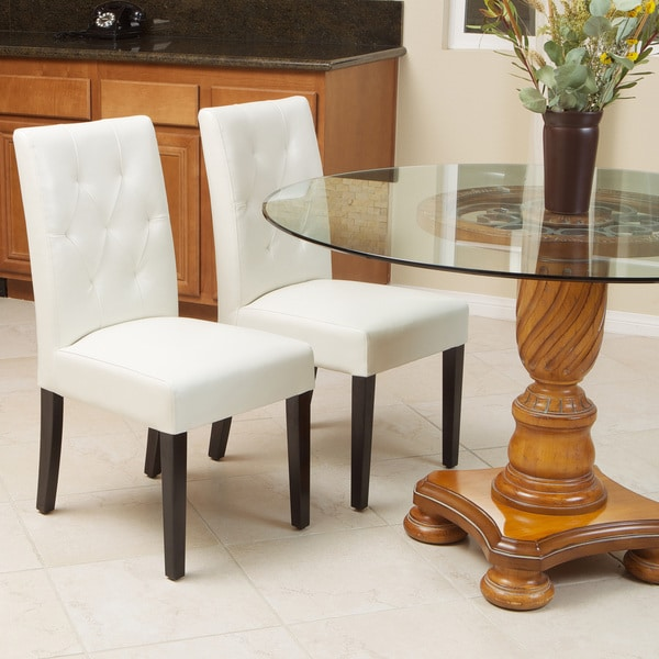 Gentry Bonded Leather Ivory Dining Chair (Set Of 2) By.