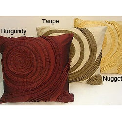 Sherry Kline 20-inch Feather and Down Filled Pleated Swirl Tafetta Pillows (Set of 2)