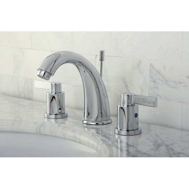 NuvoFusion Chrome Gooseneck Widespread Bathroom Faucet