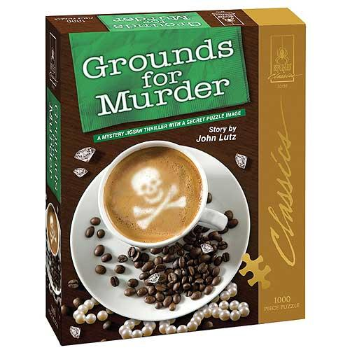 Grounds For Murder Classic Mystery 1000-piece Jigsaw Puzzle