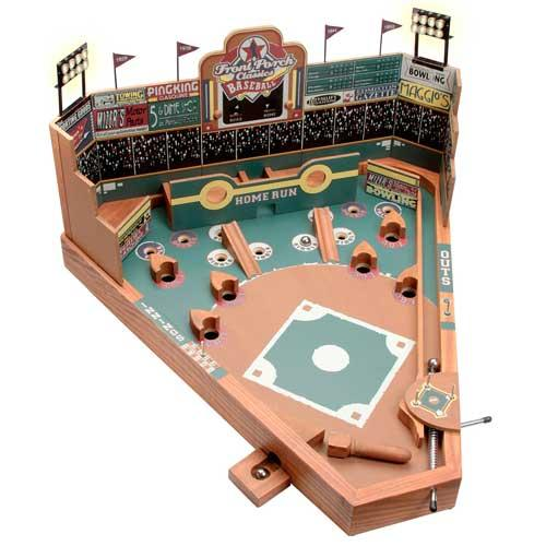 Tremendous University Games Front Porch Tabletop Wooden Pin Ball Baseball Game Black Interior Design Ideas Gentotryabchikinfo