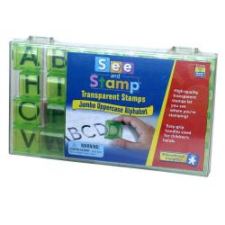 See and Stamp Transparent Jumbo Uppercase Alphabet Stamps