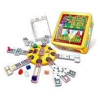 Mexican Train and Chickenfoot Dominoes: The Complete Dual Game Set