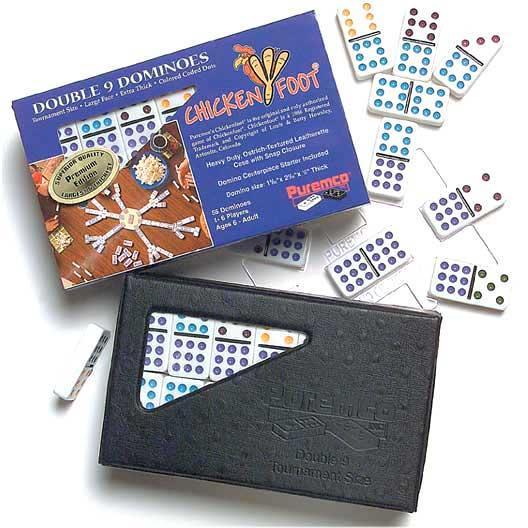 Color Double 9 Tournament Dominoes