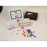 Mah Jongg Travel Tile Game Set with Carrying Case for Four Players