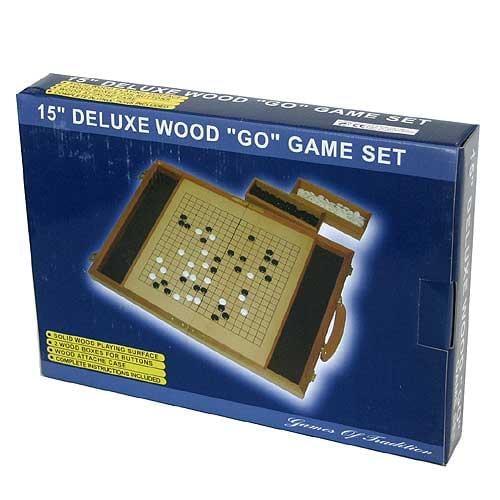 Deluxe 15-inch Wood Go Game Set