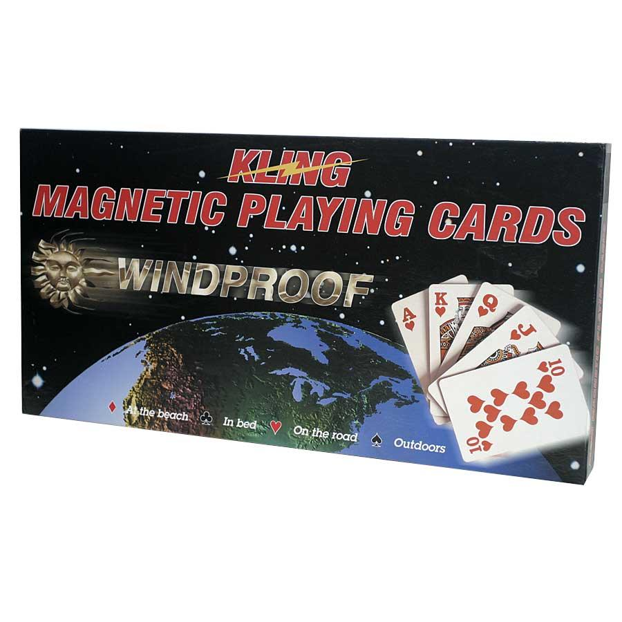 Kling Magnetic Playing Card Complete Game Set with Folding Board
