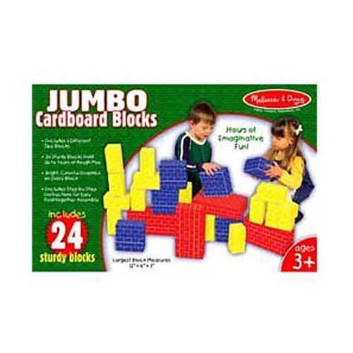 Melissa & Doug Jumbo Cardboard 24-pc Basic Blocks