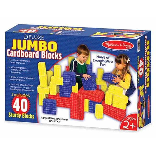 Melissa & Doug Jumbo Cardboard 40-piece Basic Blocks