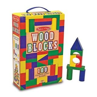 Melissa & Doug Set of 100 Wood Blocks