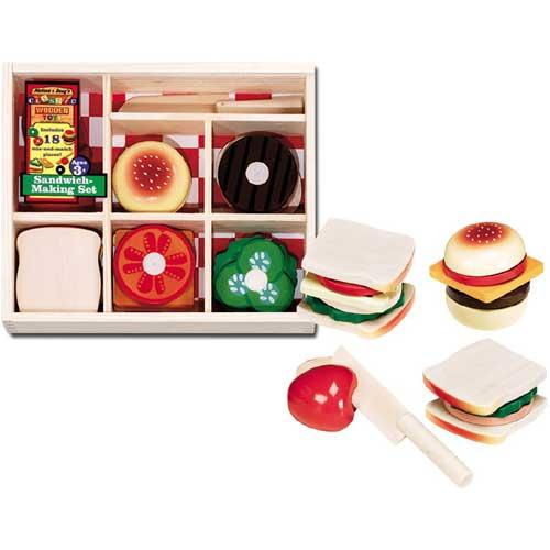 Shop Melissa Doug Sandwich Making Play Food Set Free Shipping On