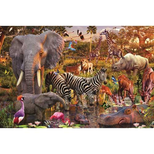 Ravensburger 3000-piece African Animals Jigsaw Puzzle