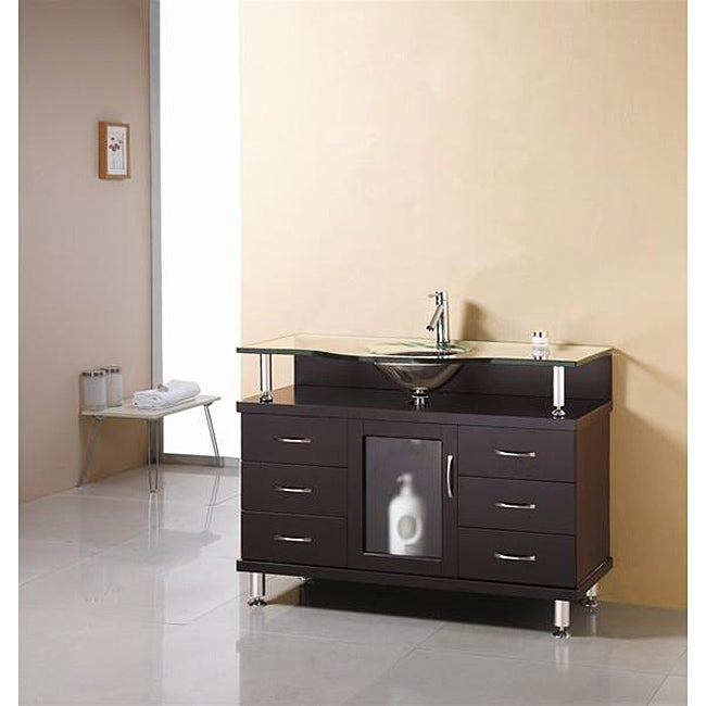 virtu usa vincente 48 inch single sink bathroom vanity set free