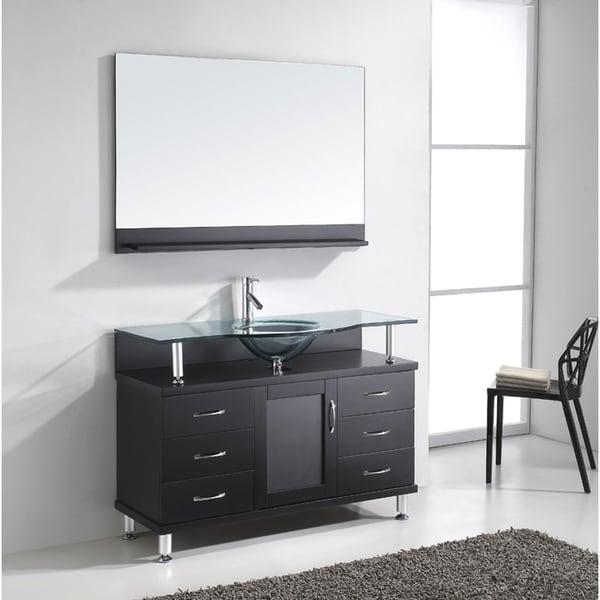 Shop virtu usa vincente 48 inch single sink bathroom - 48 inch bathroom vanity without top ...