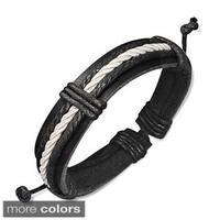 Genuine Leather Weave Bracelet