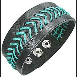 Leather 'Tahitian Surf' Bracelet
