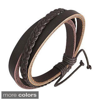 Genuine Leather 'Thai Harmony' Bracelet
