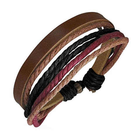 Genuine Leather 'Multicolor' Bracelet