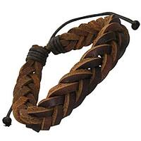 Genuine Leather Brown 'Unity Knot' Bracelet