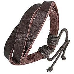 Genuine Leather Brown 'Triple' Bracelet