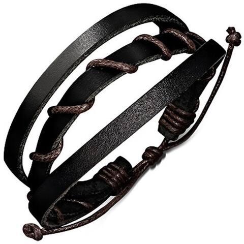 Genuine Leather 'Mystic Layers' Bracelet