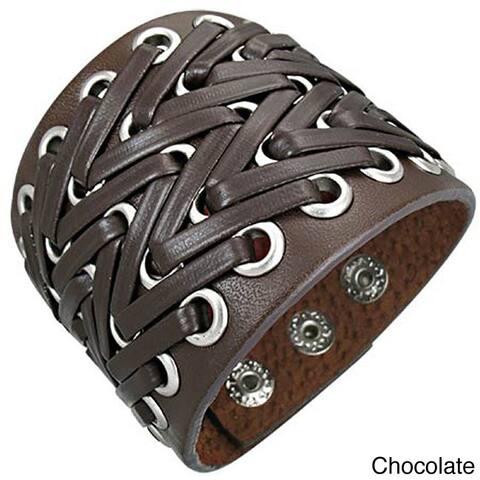 Genuine Leather 'Bali Power' Bracelet