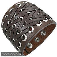 Genuine Leather 'Bali Power' Bracelet