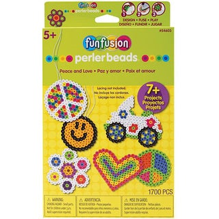 Perler Fun Fusion Peace And Love Hangable Gift Box Kit