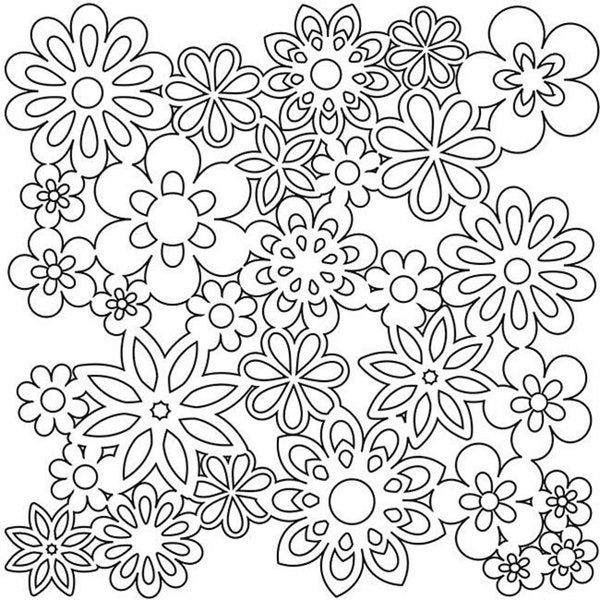 Crafter's Workshop 12x12 Flower Template