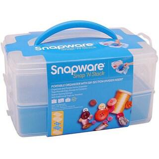 Snapware Snap 'n Stack Medium 2-layer Craft Organizer
