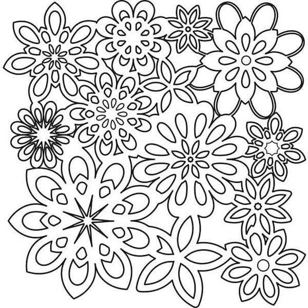 Crafter's Workshop Flower Shower 12x12-in Template