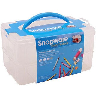Snapware Snap 'n Stack Medium 2-layered Craft Organizer